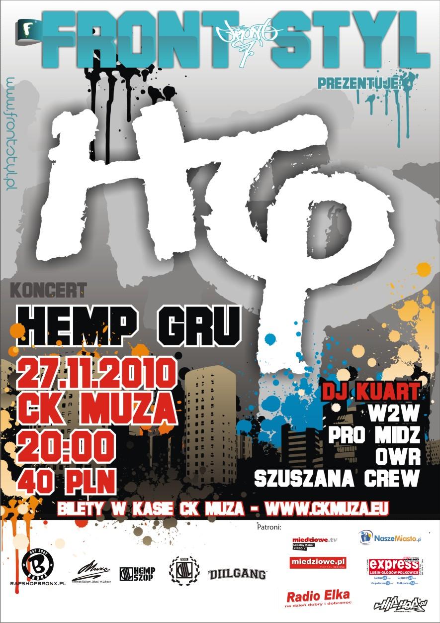 "Koncert HEMP GRU - Lubin - klub ""CK Muza"" - ul.Armii Krajowej 1 - 27.11.2010"