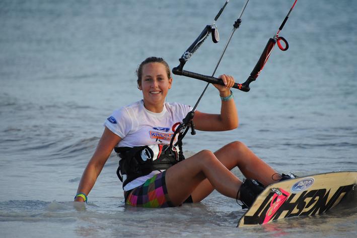 Karolina Winkowska - kiteboarding