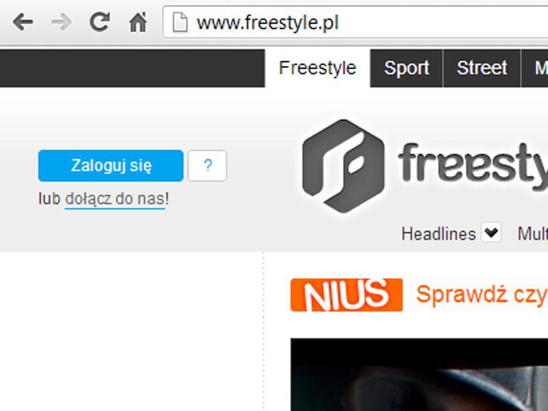 Logowanie Freestyle.pl