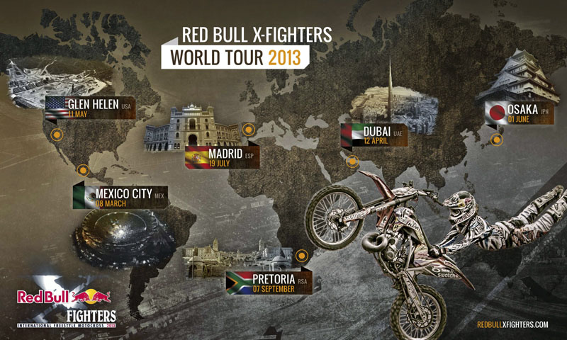 Kalendarz Red Bull X-Fighters 2013