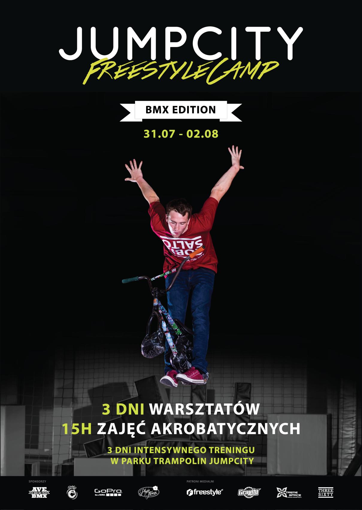 JUMPCITY Freestyle Camp BMX Edition - czyli warsztaty akrobatyczne w Parku Trampolin