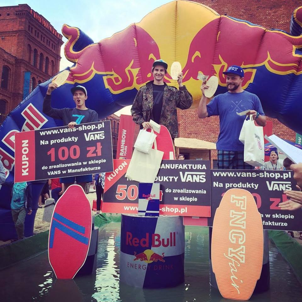 Red Bull Skim It 2015 -Podium