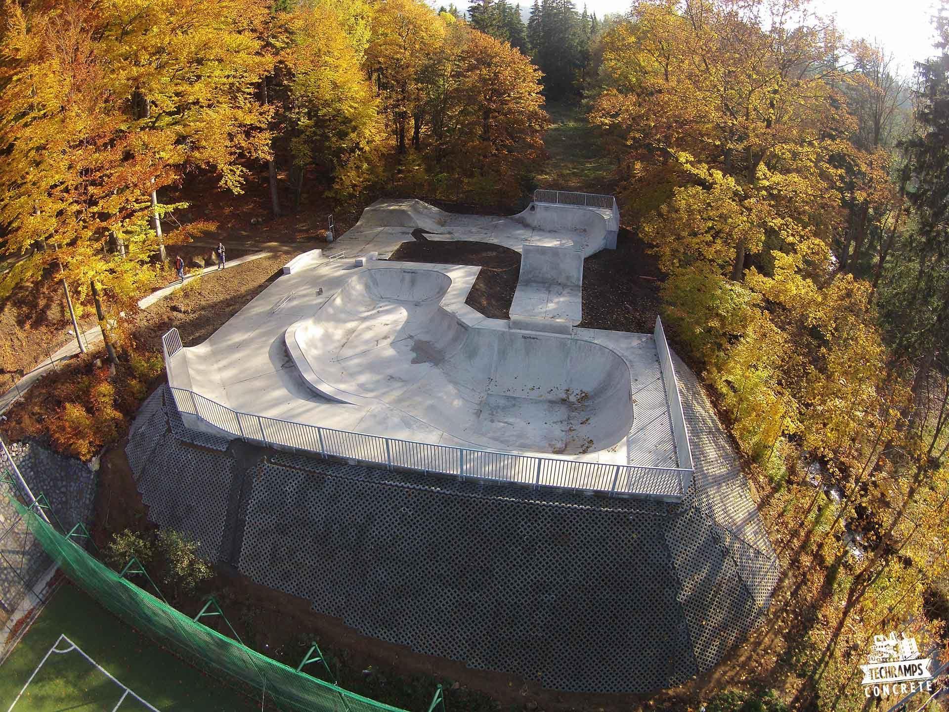 Betonowy skatepark w Szklarskiej Porębie