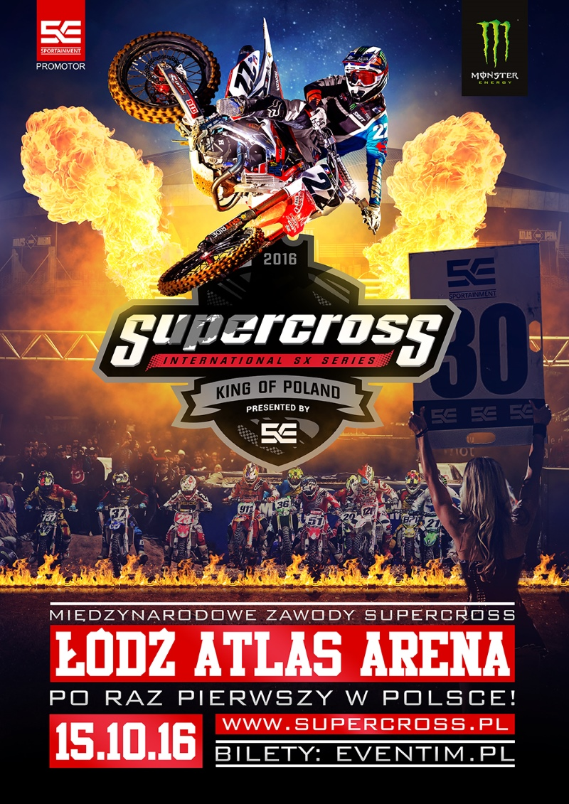 Supercross King of Poland 2016 w Łodzi