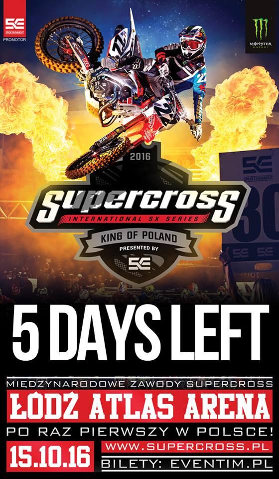 Supercross - King of Poland już za 5 dni!