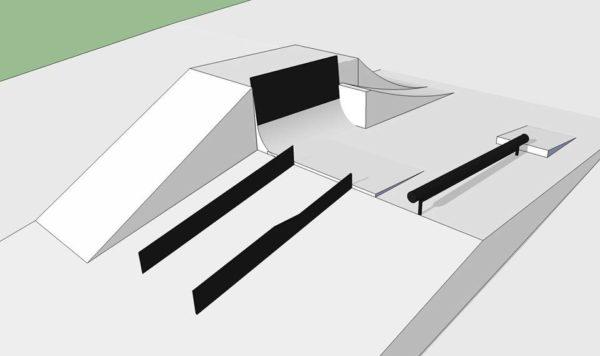 Wizualizacja przeszkód Oscyp Snowboard Contest 2017