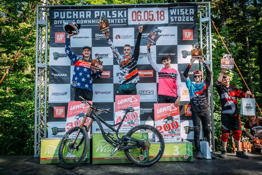 Diverse Downhill Contest Puchar Polski - Wisła 2018 - Podium Juniorów