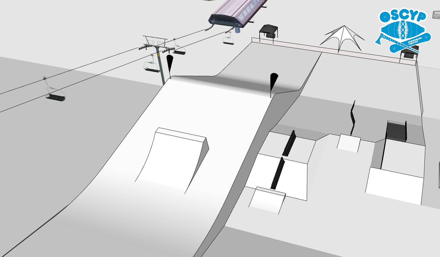 OSCYP Snowboard Contest 2019 - plan snowparku