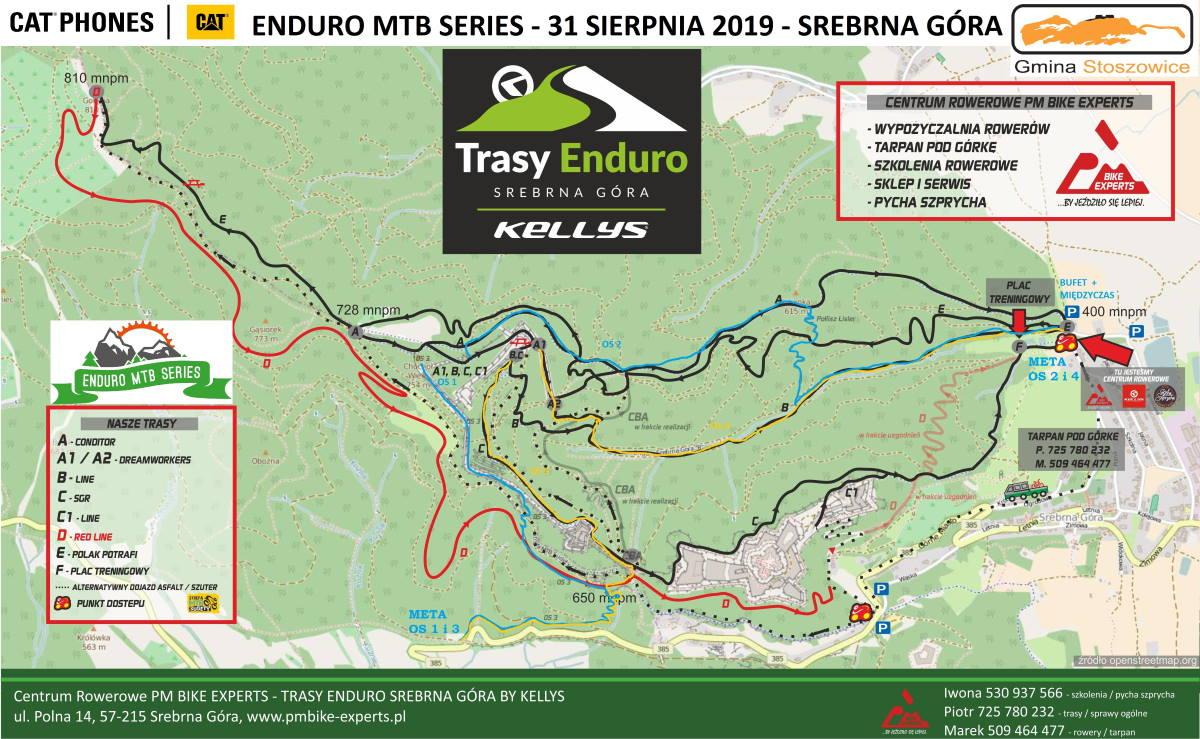 Mapa - Enduro MTB Series - Srebrna Góra 2019