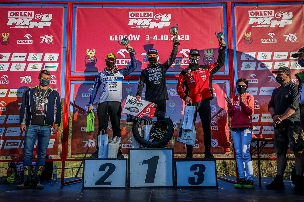 Poznaliśmy Mistrzów Polski w Motocrossie 2020 - podium MX Open