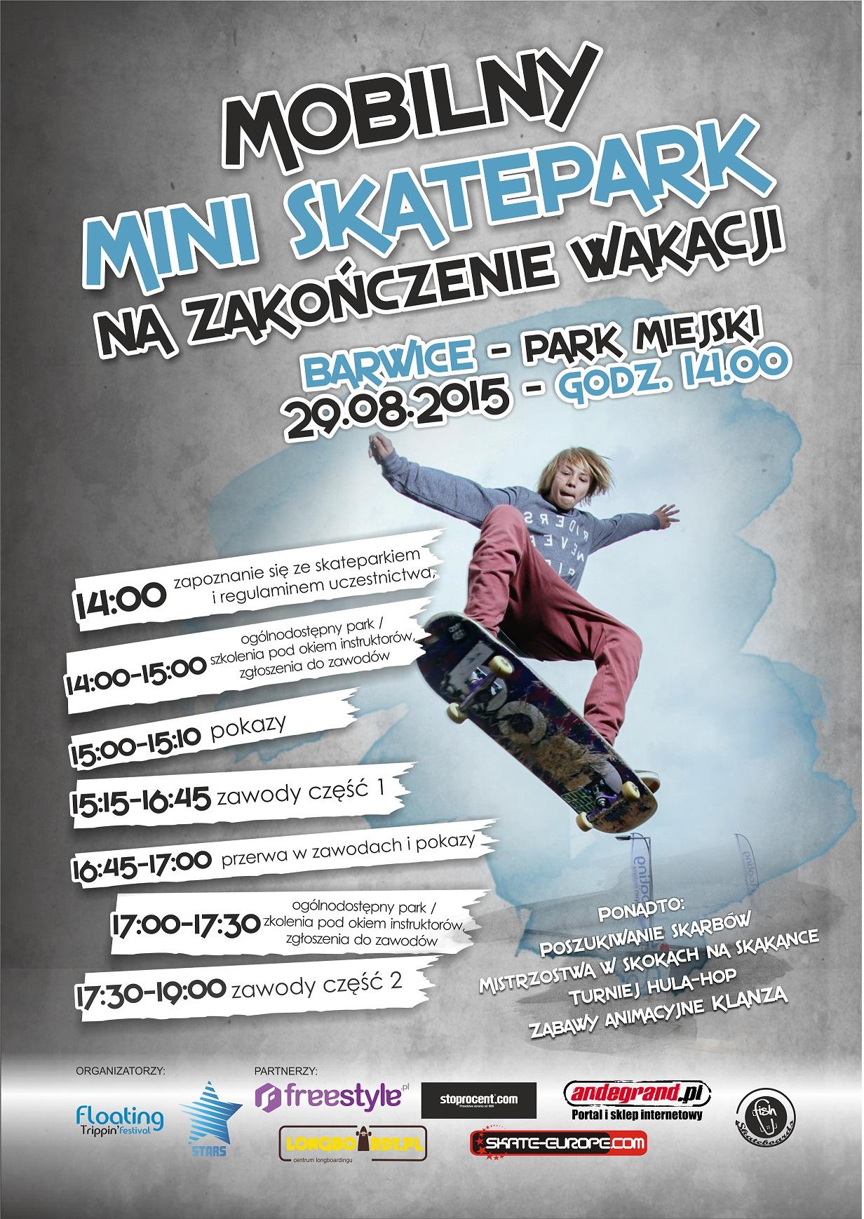 Skate Jam w Barwicach na pożegnanie wakacji