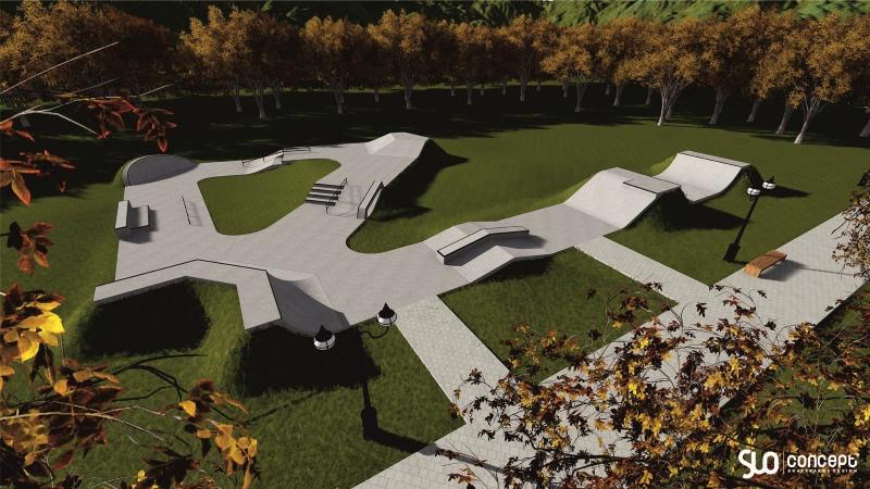 Betonowy skatepark - Świecie