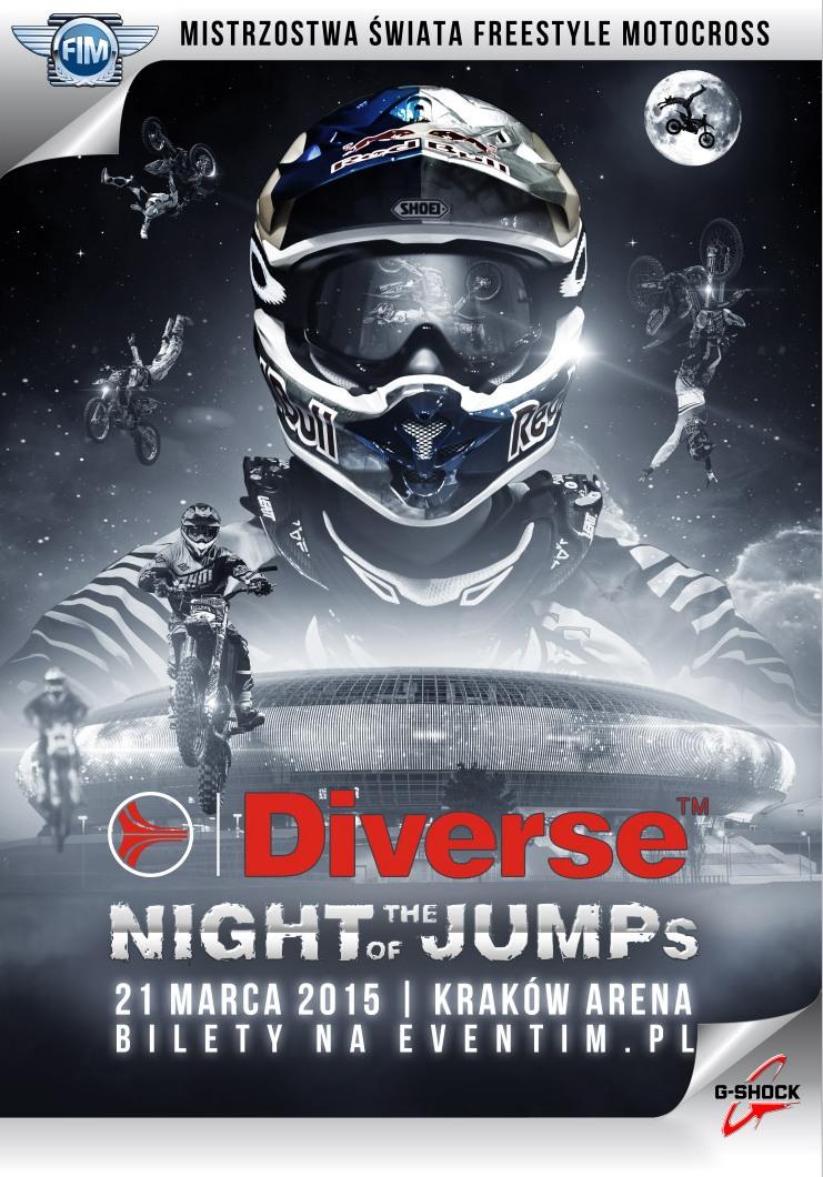 Diverse NIGHT of the JUMPs: Mistrzostwa Świata we Freestyle Motocrossie 2015 w Krakowie!
