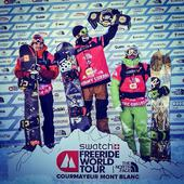Podium Swatch Freeride World Tour 2014 w Courmayeur - snowboard