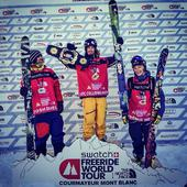 Podium Swatch Freeride World Tour 2014 w Courmayeur - narty
