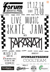 """LIVE MUSIC SKATE JAM"" with TARABAN w krakowskim Pool Forum"