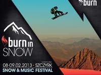 Burn In Snow 2013 - plakat