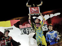 Podium Red Bull X-Fighters w Madrycie