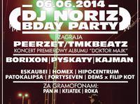 """DJ NORIZ BDAY PARTY / Premierowy Koncert PEERZET/TMKBEATZ """"Doktor Majk"""""""