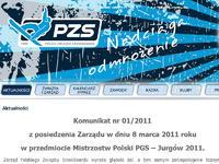 Komunikat PZS w sprawie Mistrzostw Polski PGS – Jurgów 2011.