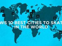 Dziesięć najlepszych miast dla skaterów