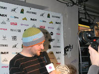 Maciej Skiba na Gali Freestyle BMX Awards 2012