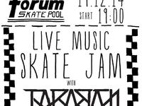 LIVE MUSIC SKATE JAM with TARABAN