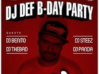 26.10 Warszawa: DJ DEF B-DAY PARTY @ ISKRA