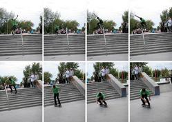 Ollie nad railem z 10 schodów