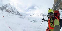 Adam Bielecki na Gasherbrumie II