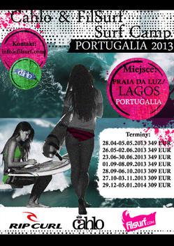 Cahlo&FilSurf Surf Camp Portugal 2013