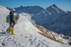 Kasprowy Wierch snowbordzista