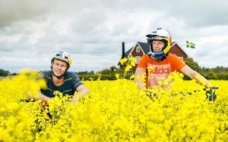 Rowerowe pole Dawida Godźka i Martina Soderstroma